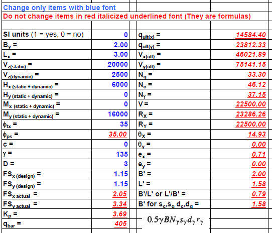 Shallow Foundations Page 25 Example Calculation
