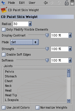 changing these parameters affects the way the auto weights are calculated.