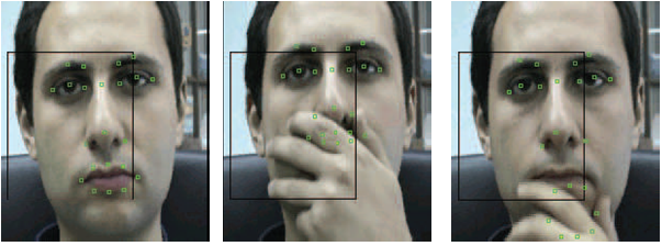Fig. 1: In existing facial expression recognition systems hand-over-face occlusions are treated as noise. 2 Why hands?