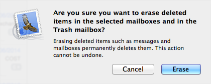 Empty the Trash / Deleted Items Folders You will then need to empty the Trash/Deleted Items folder after you have completed the above tasks. 1.