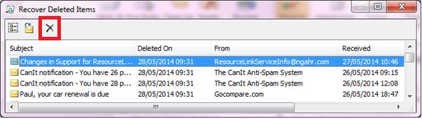 Remove large items from the Recover Deleted Items If you identified any large items using the steps in the section called remove large items over 25 MB you will also need to permanently remove them