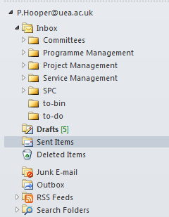 To delete an item in your inbox select the email concerned and right-click it to produce the menu list below. Select the option Delete.