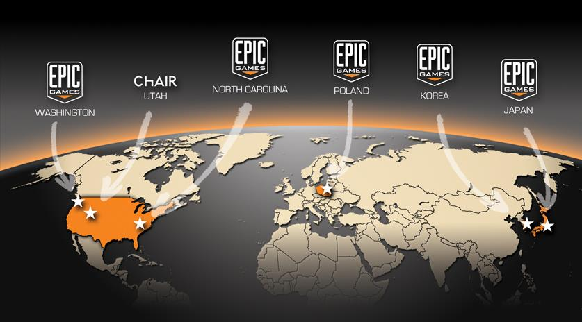 Epic Games Founded 1991 by Tim Sweeney HQ in Cary, North Carolina Introduction Subsidiaries in Utah and Seattle, Korea, Japan, UK and Poland