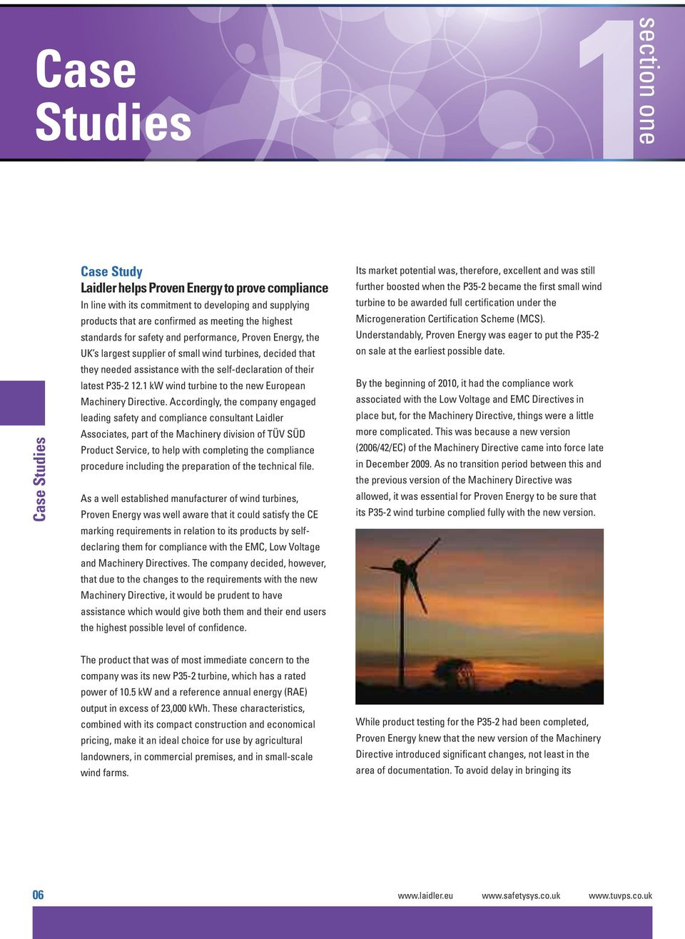 1 kw wind turbine to the new European Machinery Directive.