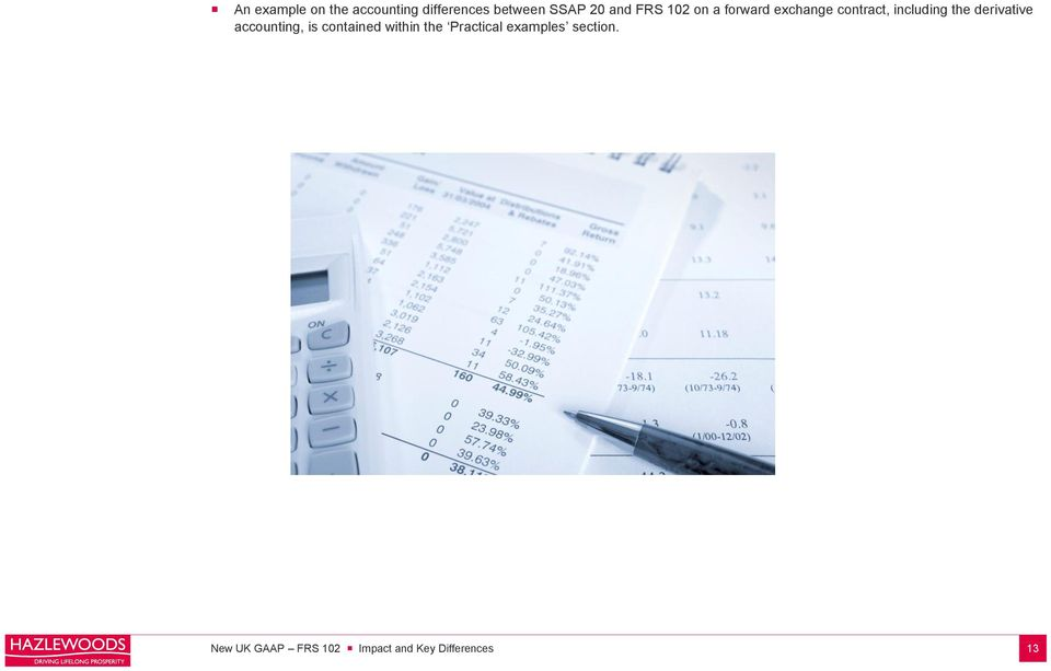 derivative accounting, is contained within the Practical