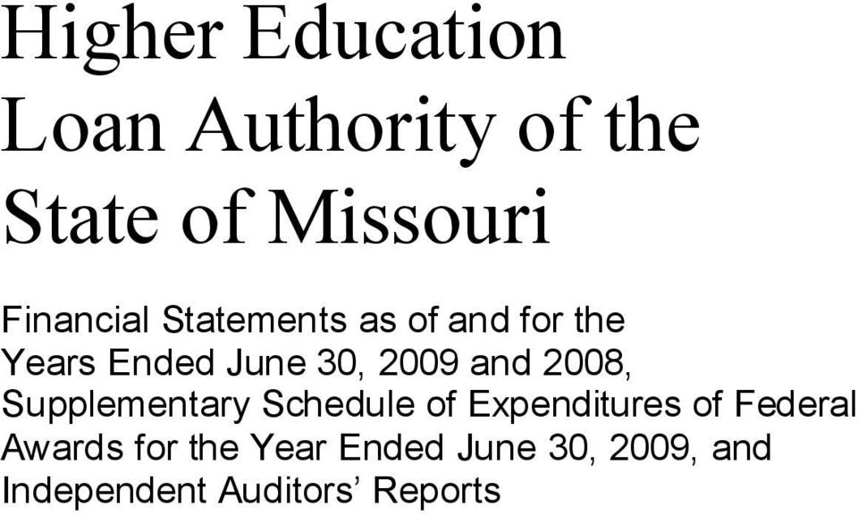 2009 and 2008, Supplementary Schedule of Expenditures of