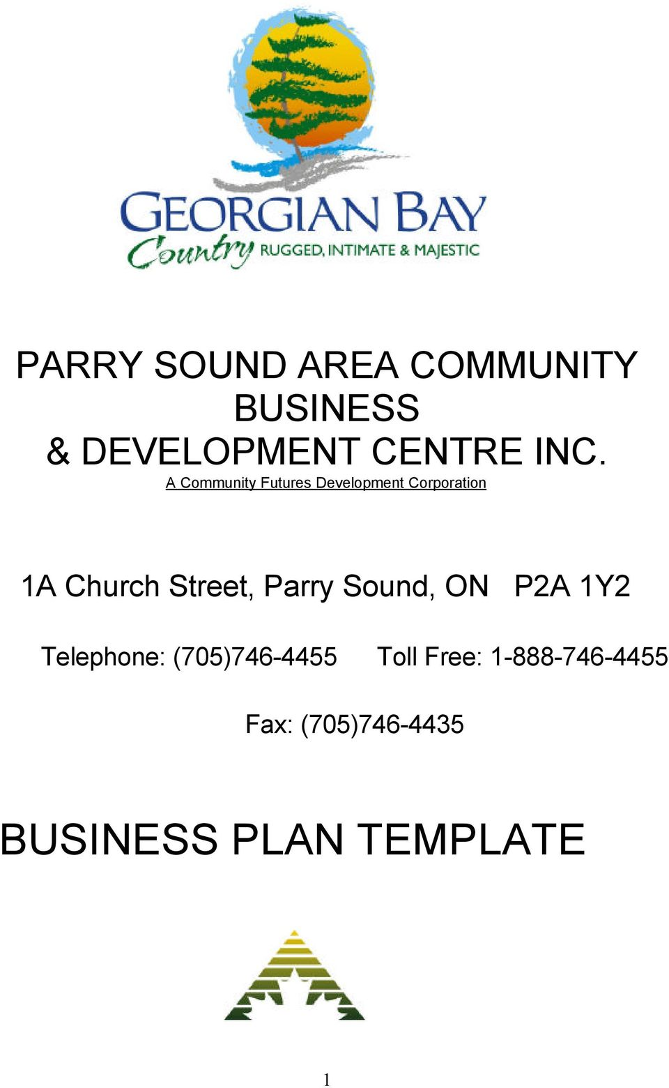 Street, Parry Sound, ON P2A 1Y2 Telephone: (705)746-4455