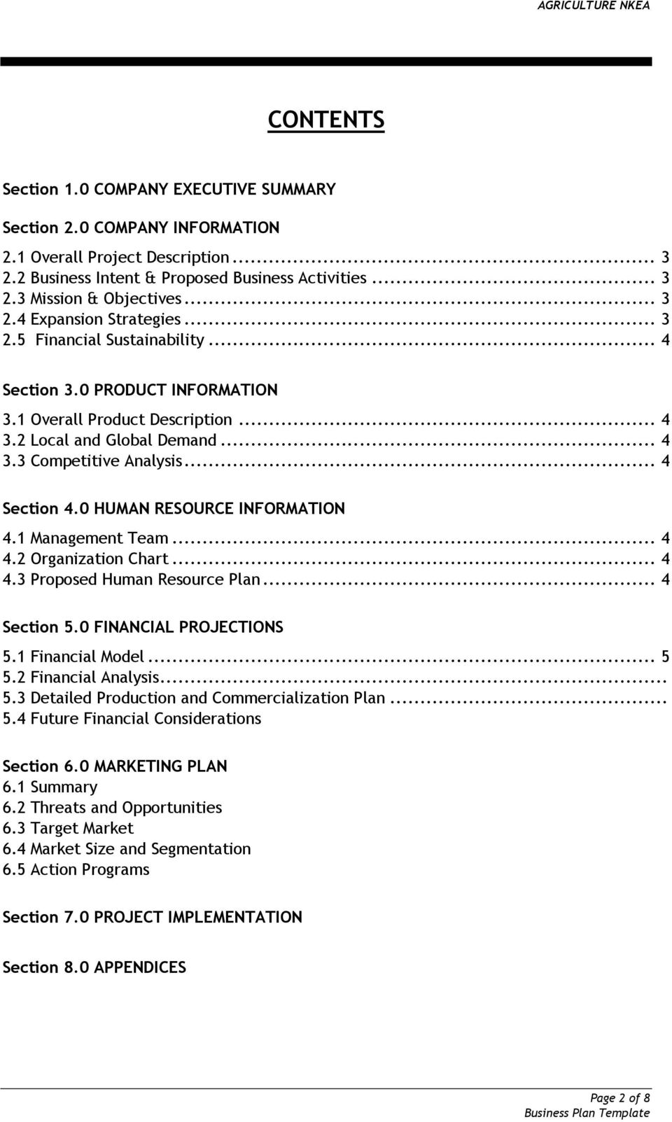 Business Plan Template And Guide For Anchor Companies Pdf Free Download