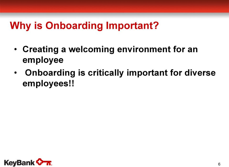for an employee Onboarding is