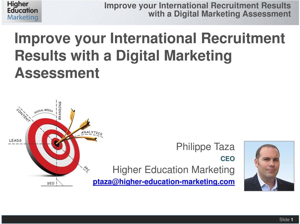 Assessment Philippe Taza CEO Higher