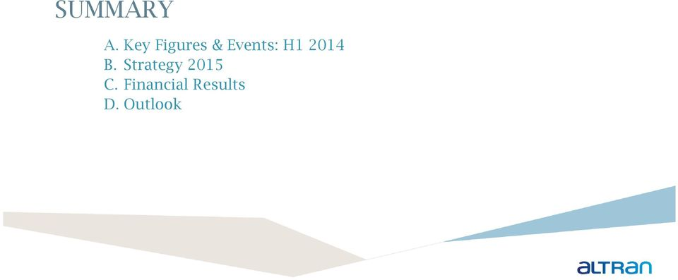 Events: H1 2014
