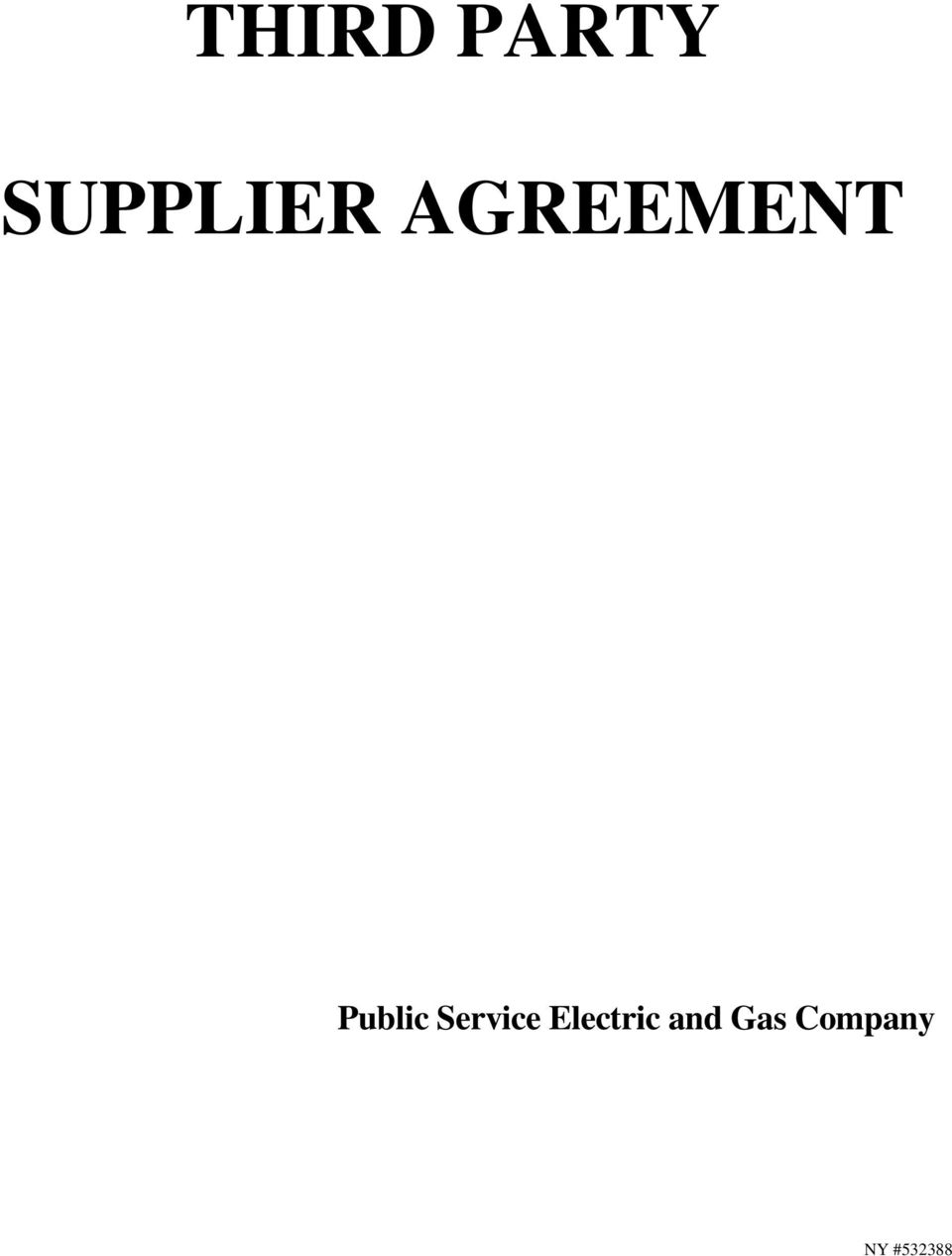 AGREEMENT Public