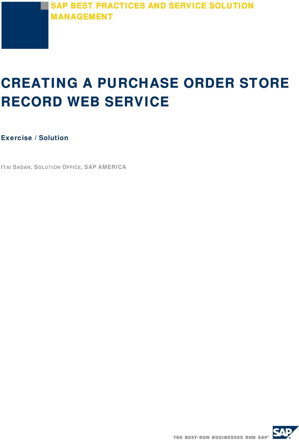 STORE RECORD WEB SERVICE Exercise /