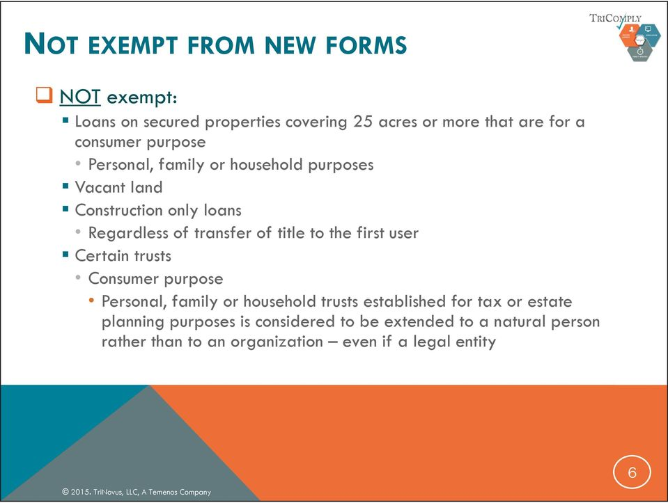 the first user Certain trusts Consumer purpose Personal, family or household trusts established for tax or estate