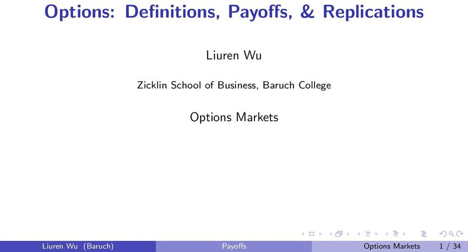 of Business, Baruch College Options