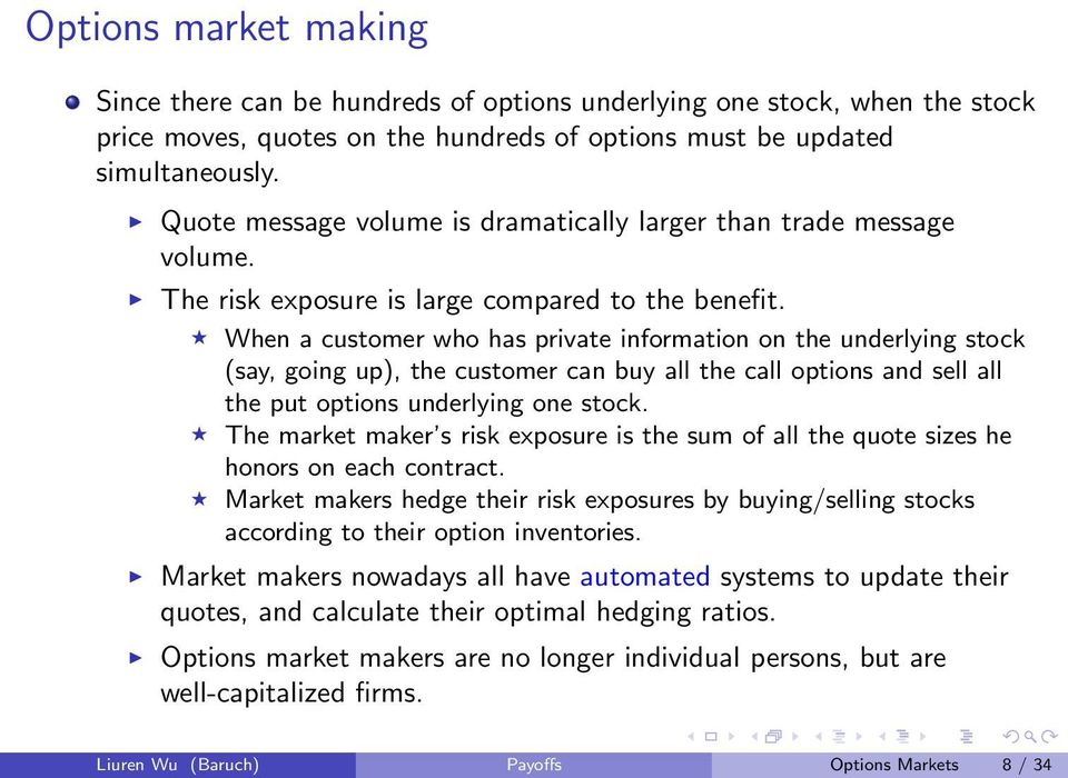 When a customer who has private information on the underlying stock (say, going up), the customer can buy all the call options and sell all the put options underlying one stock.