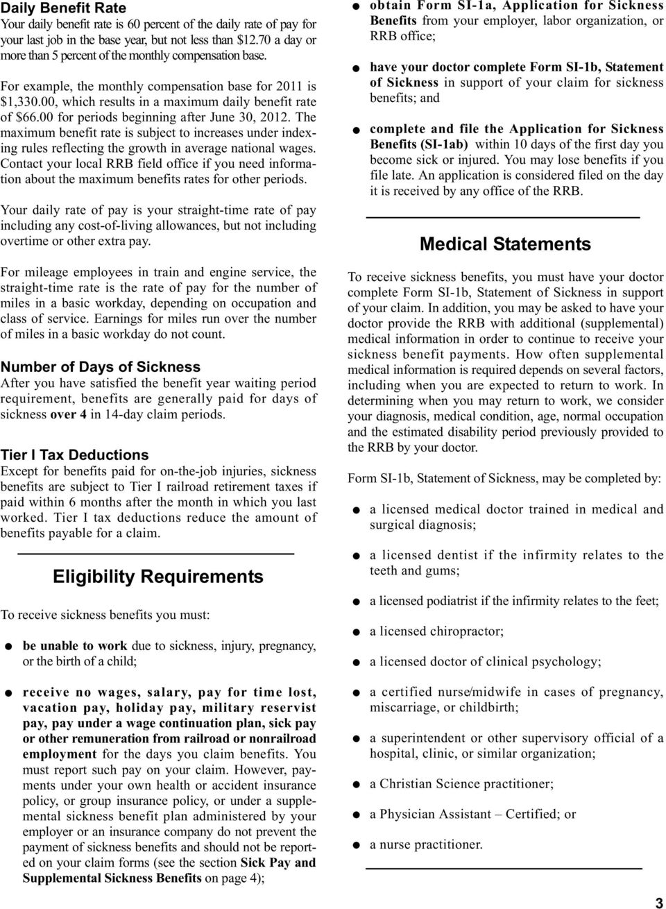 Sickness Benefits for Railroad Employees - PDF