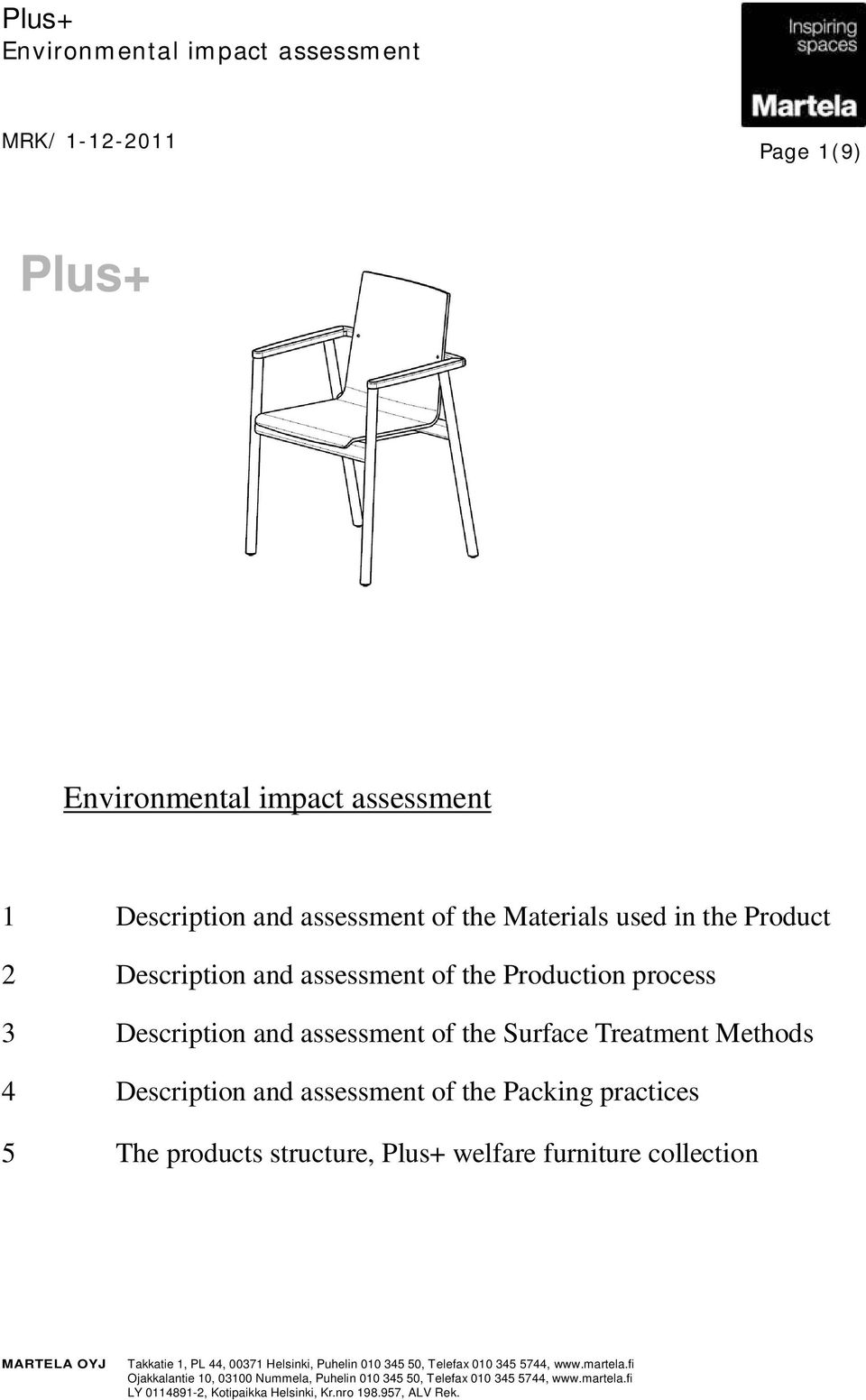 and assessment of the Surface Treatment Methods 4 Description and assessment