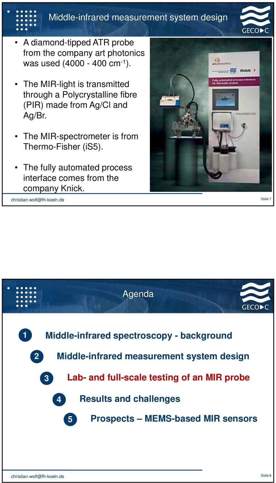 The fully automated process interface comes from the company Knick.