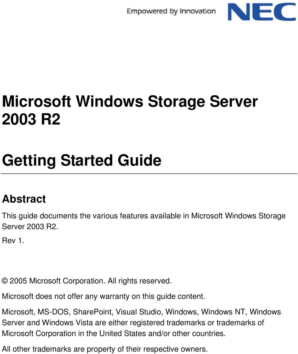 Microsoft does not offer any warranty on this guide content.