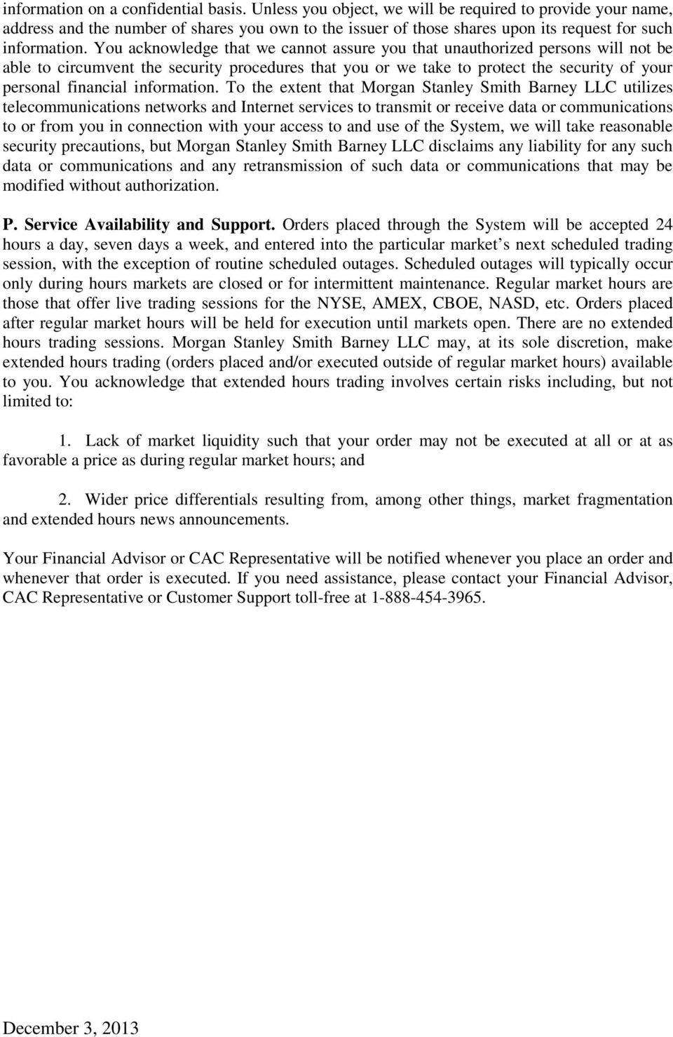 Morgan Stanley Online Clientserv Trading Agreement Pdf