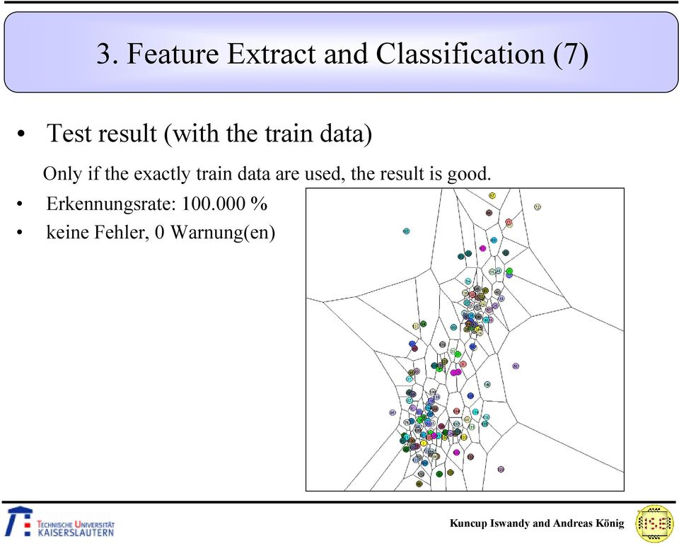 exactly train data are used, the result is good.