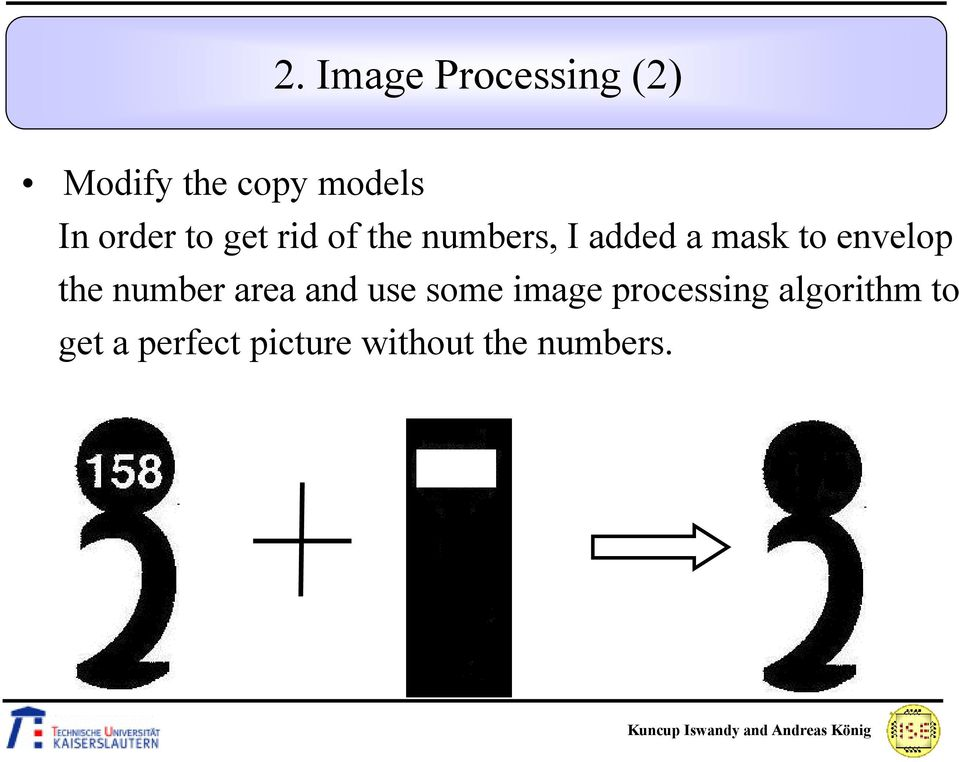 envelop the number area and use some image