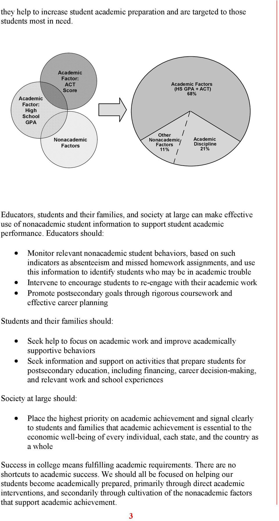 make effective use of nonacademic student information to support student academic performance.