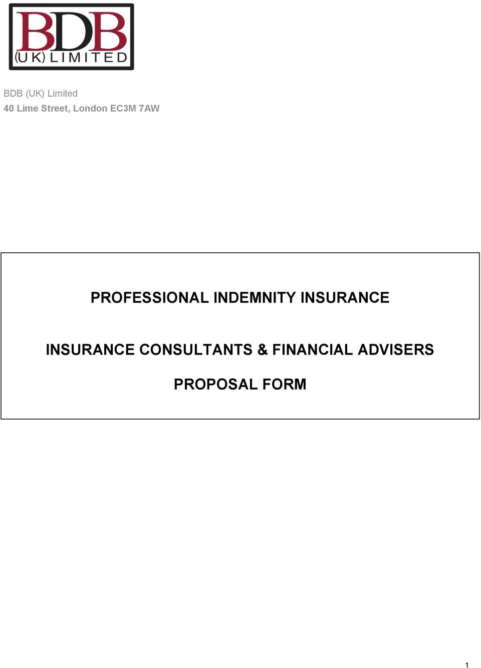 INDEMNITY INSURANCE INSURANCE