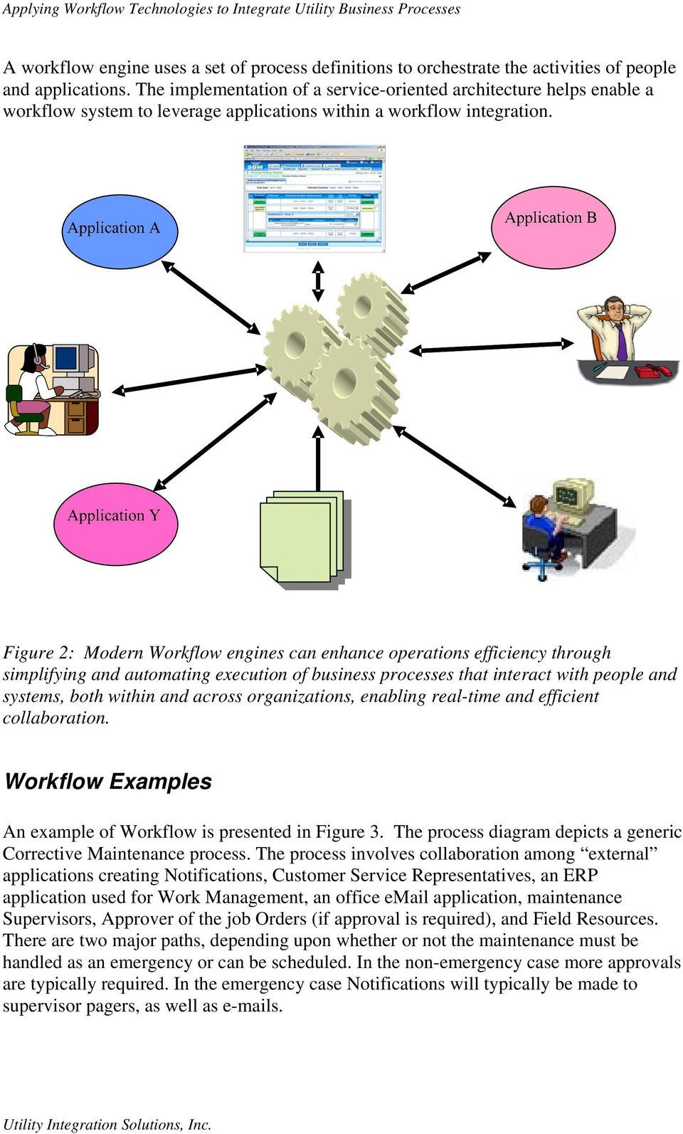 Figure 2: Modern Workflow engines can enhance operations efficiency through simplifying and automating execution of business processes that interact with people and systems, both within and across