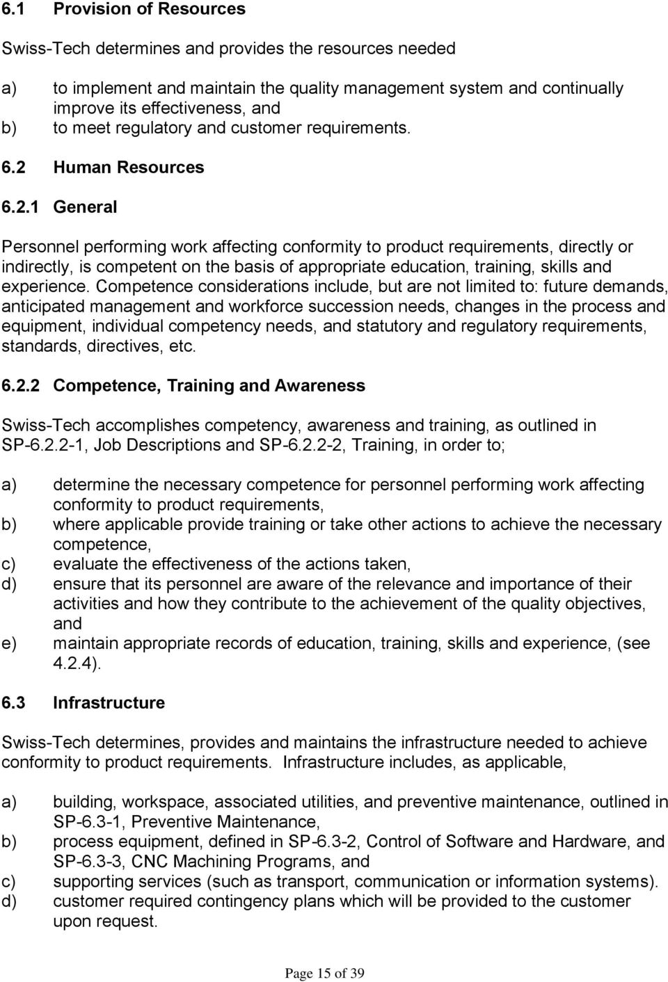 Human Resources 6.2.