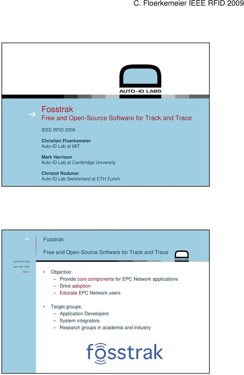 Fosstrak Free and Open-Source Software for Track and Trace - PDF