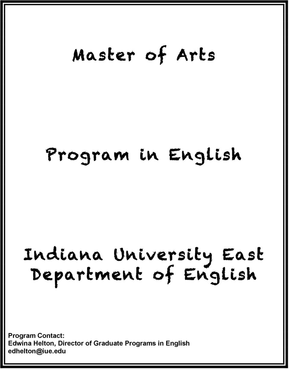 Program Contact: Edwina Helton, Director