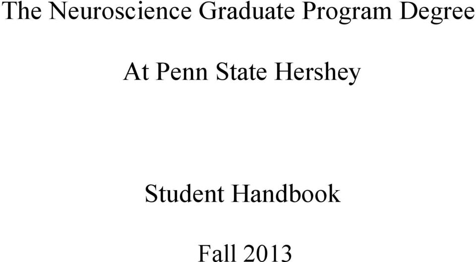 Degree At Penn State