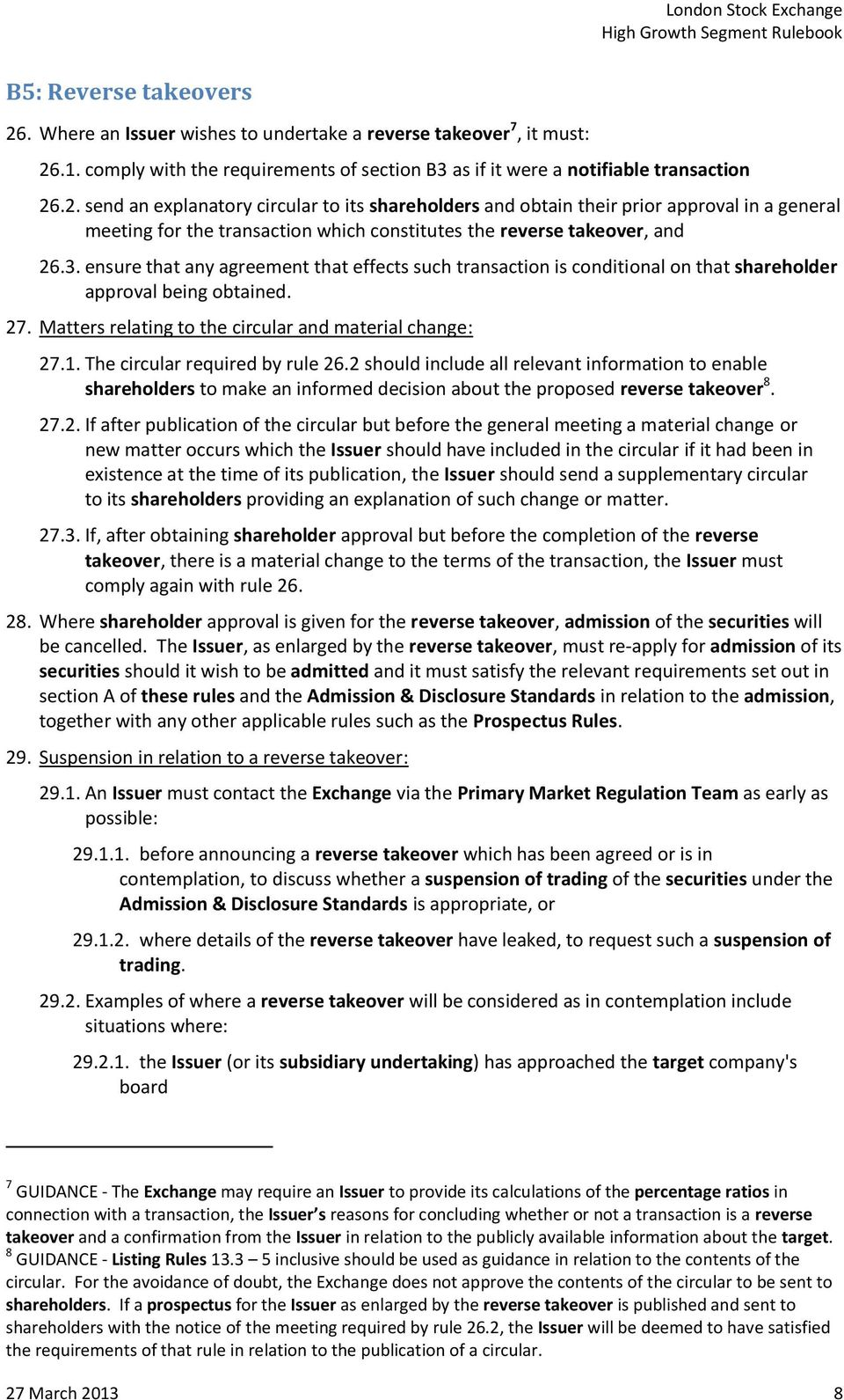 The circular required by rule 26