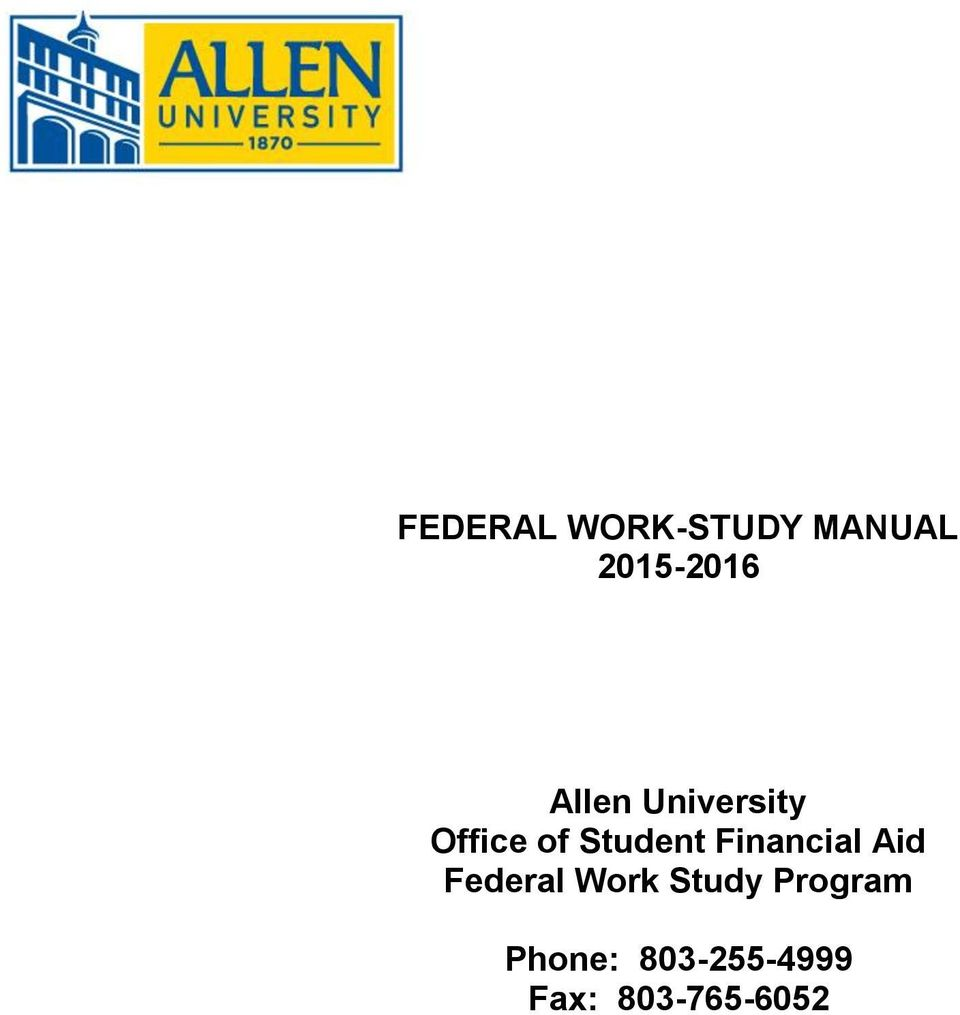 Financial Aid Federal Work Study