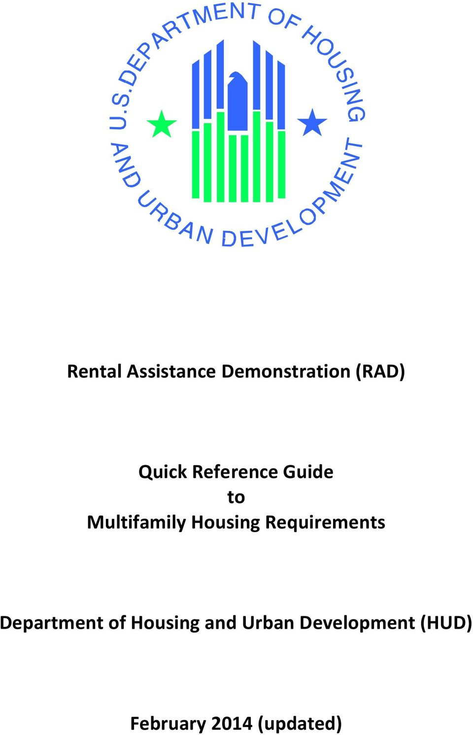 Housing Requirements Department of Housing