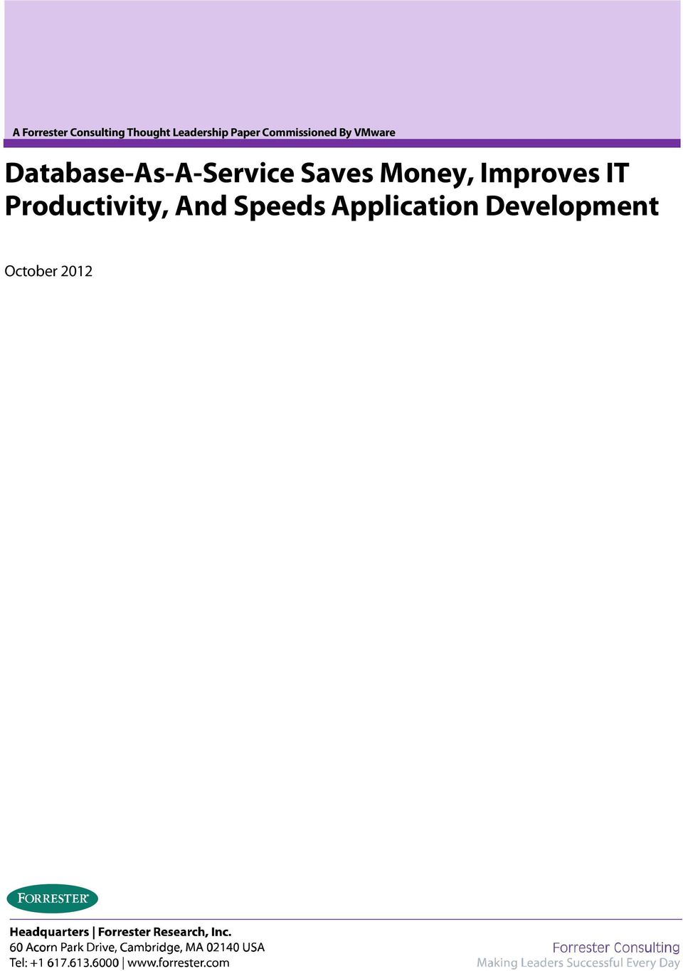 Database-As-A-Service Saves Money, Improves