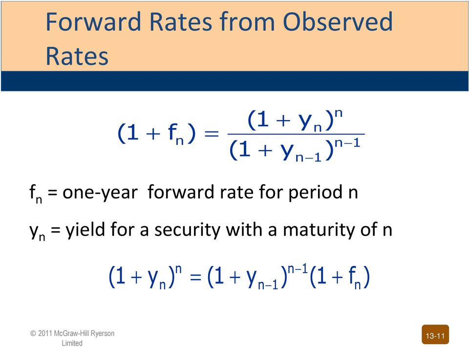 period n y n = yield for a security with a maturity