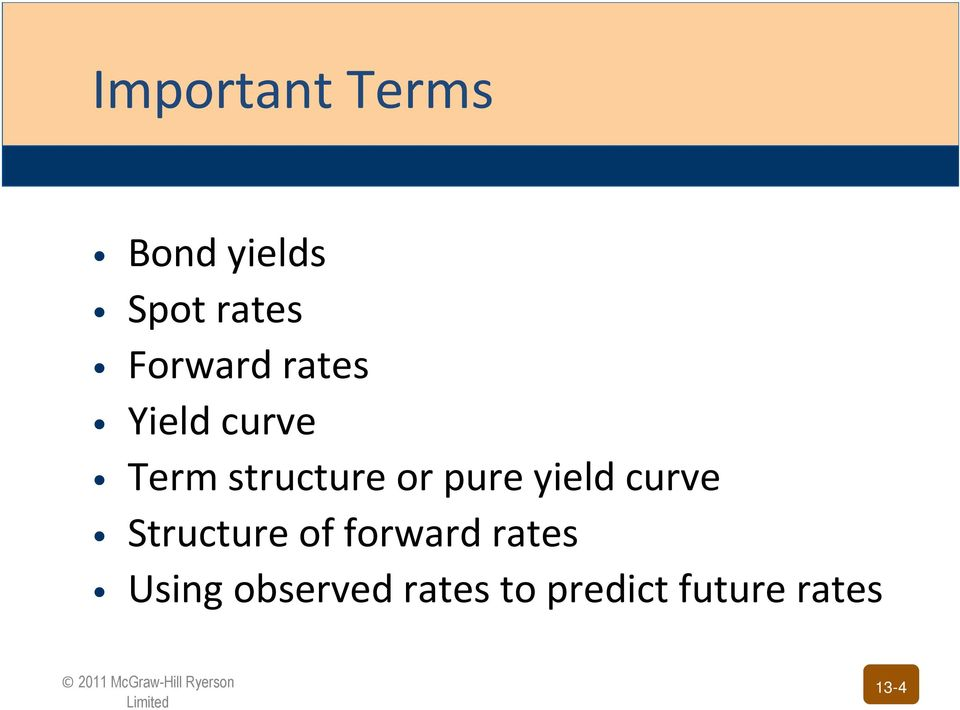 pure yield curve Structure of forward rates