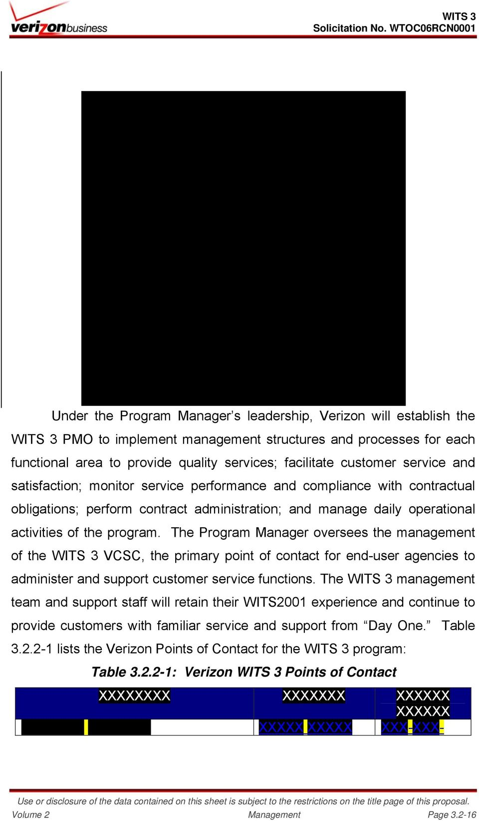 The Program Manager oversees the management of the WITS 3 VCSC, the primary point of contact for end-user agencies to administer and support customer service functions.