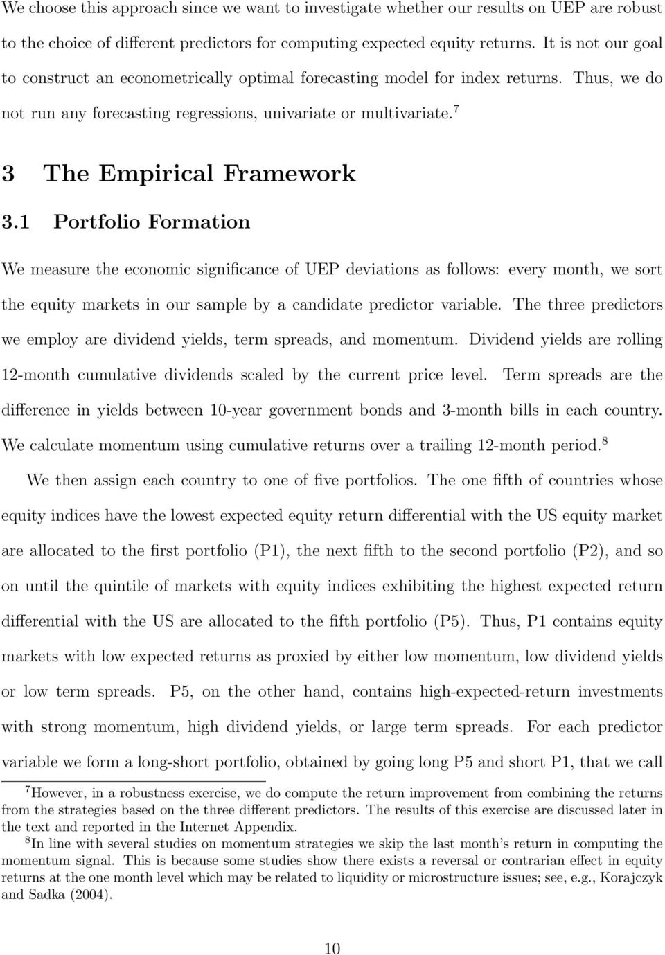 7 3 The Empirical Framework 3.