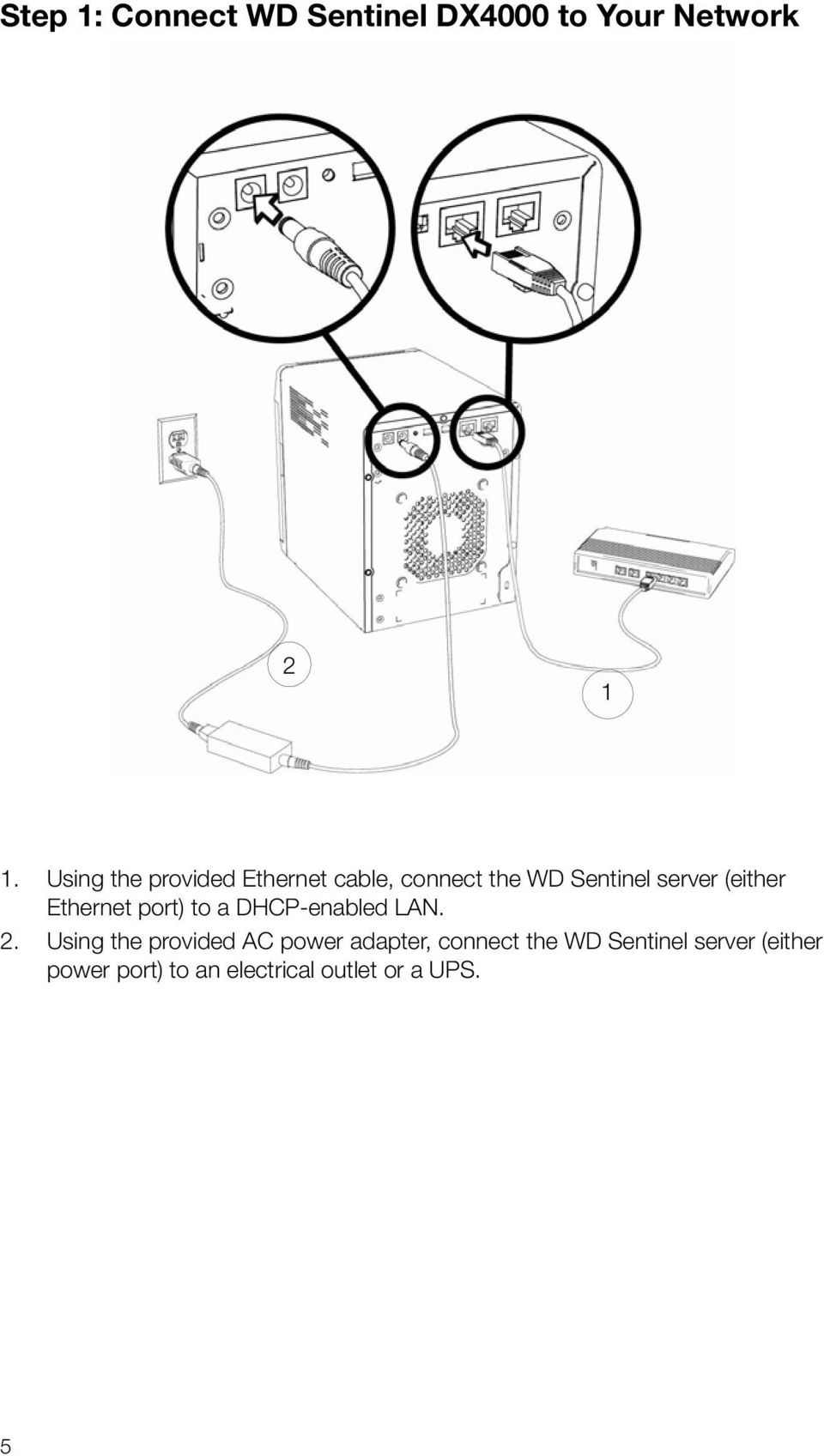 Ethernet port) to a DHCP-enabled LAN. 2.