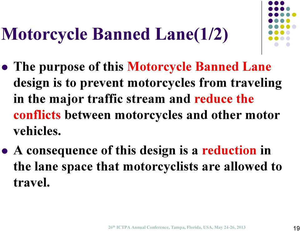 motorcycles and other motor vehicles.