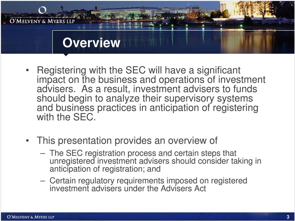 registering with the SEC.