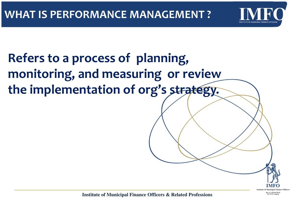 and measuring or review the implementation of