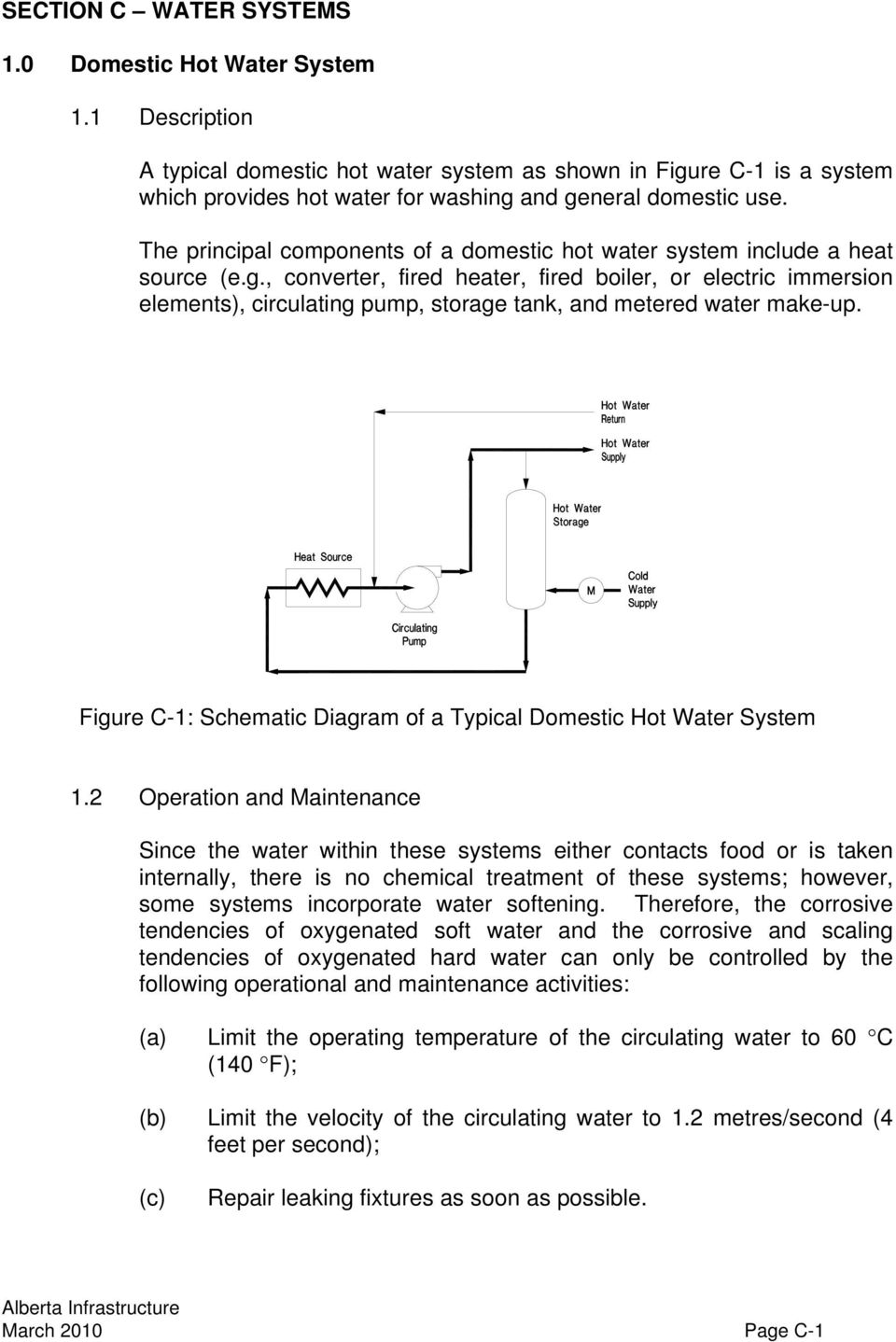 The principal components of a domestic hot water system include a heat source (e.g.