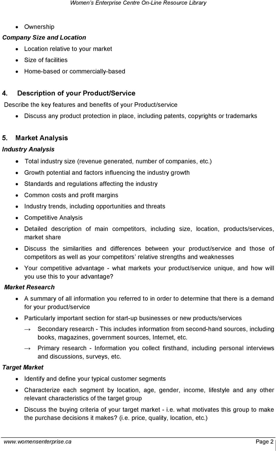 Market Analysis Industry Analysis Total industry size (revenue generated, number of companies, etc.