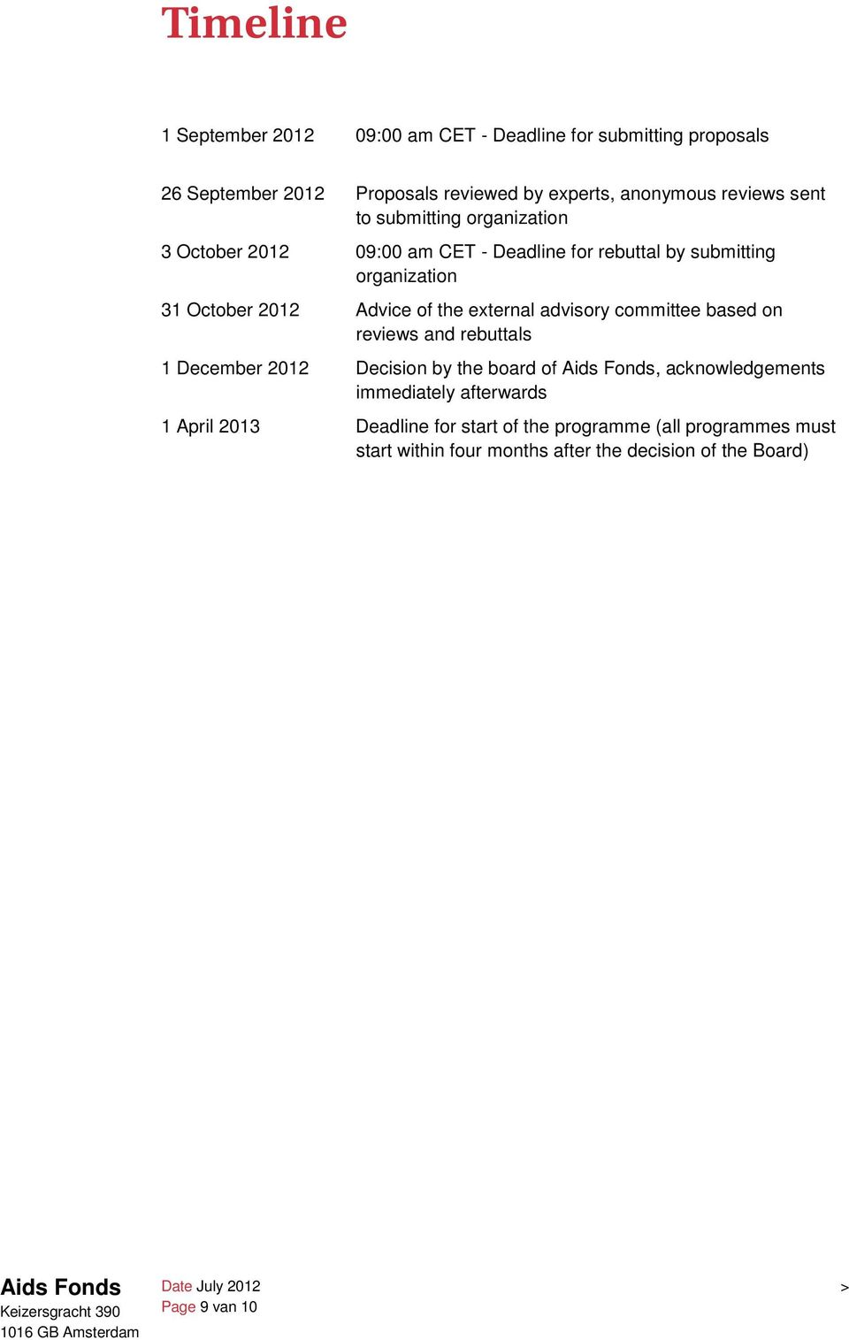 external advisory committee based on reviews and rebuttals 1 December 2012 Decision by the board of, acknowledgements immediately afterwards