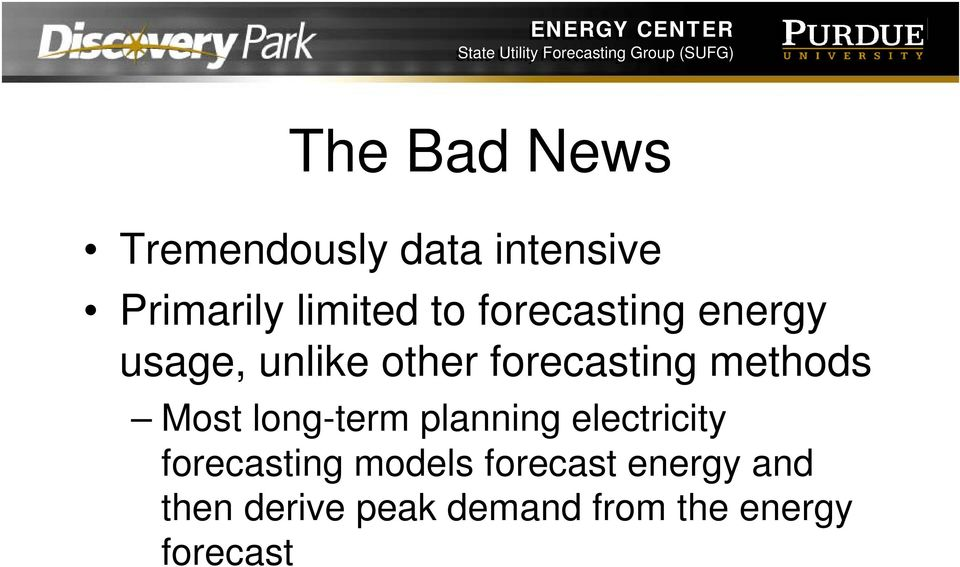 methods Most long-term planning electricity forecasting